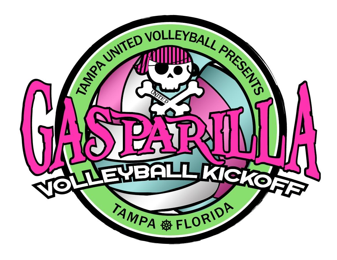Tampa United Volleyball-Gasparilla Volleyball Classic 2021 Logo